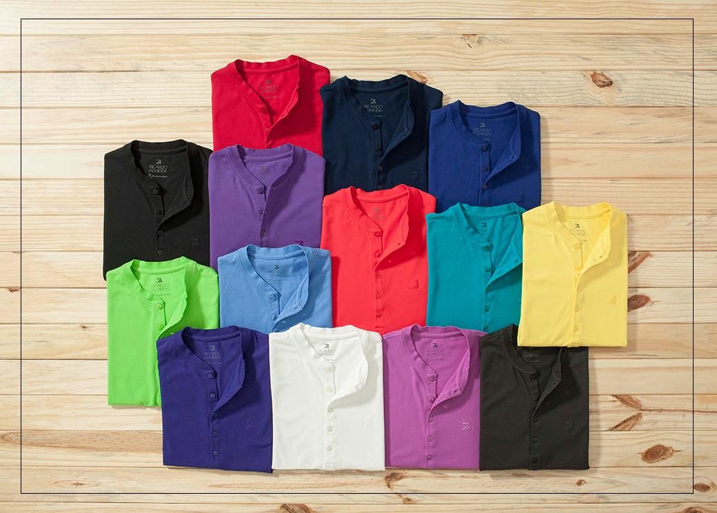 ec07284d52add Para o verão  camiseta com gola mao - Blog Ricardo Almeida